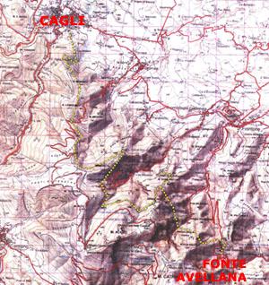 Carta del Sentiero Frassati Marche